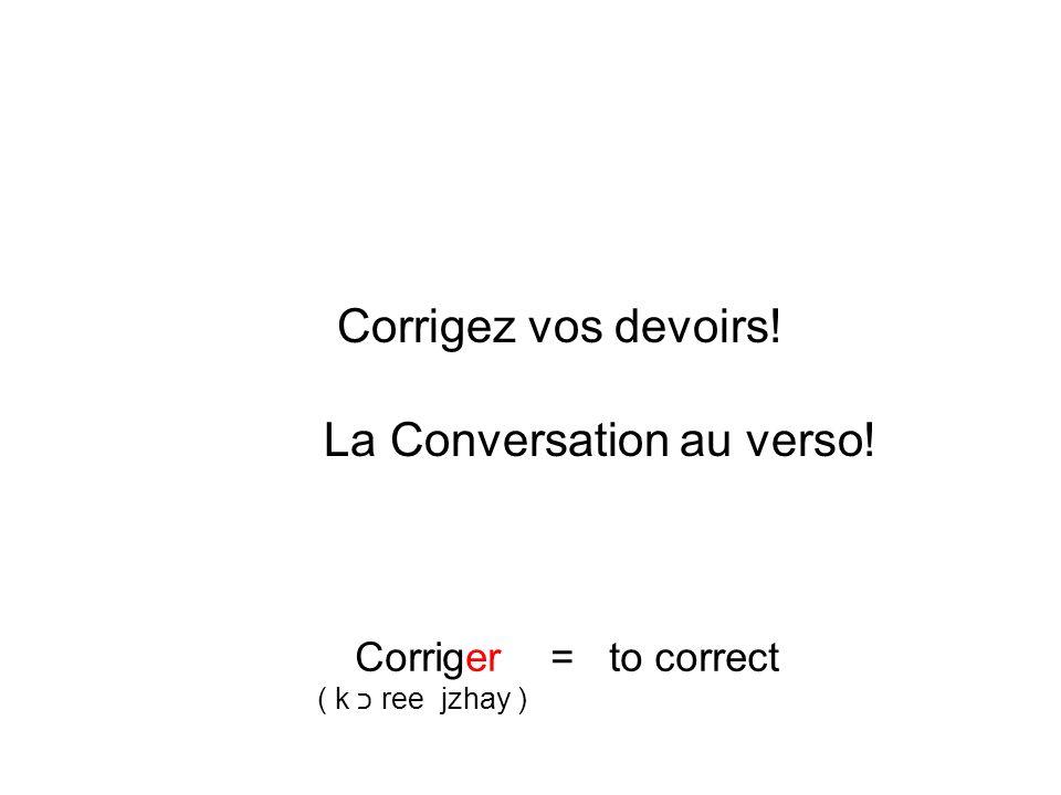 La Conversation au verso!