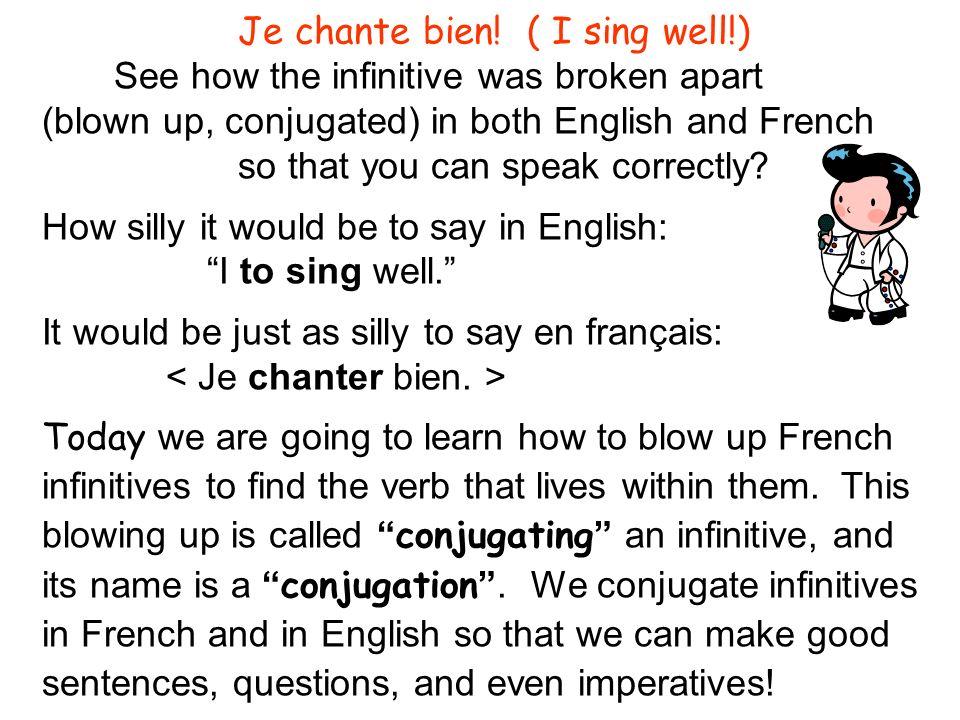 Je chante bien! ( I sing well!)