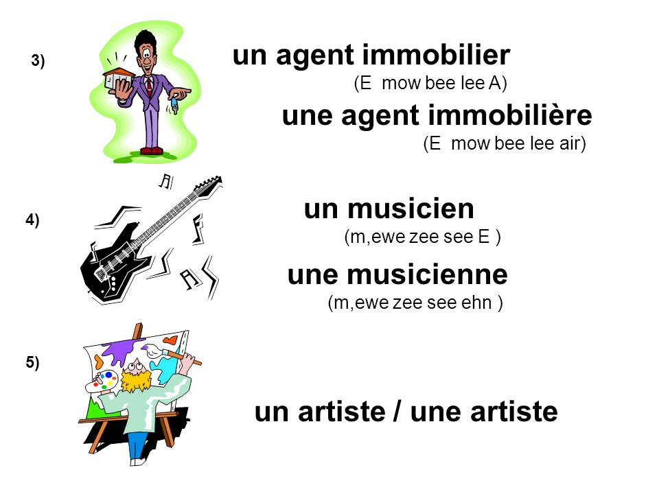 un artiste / une artiste