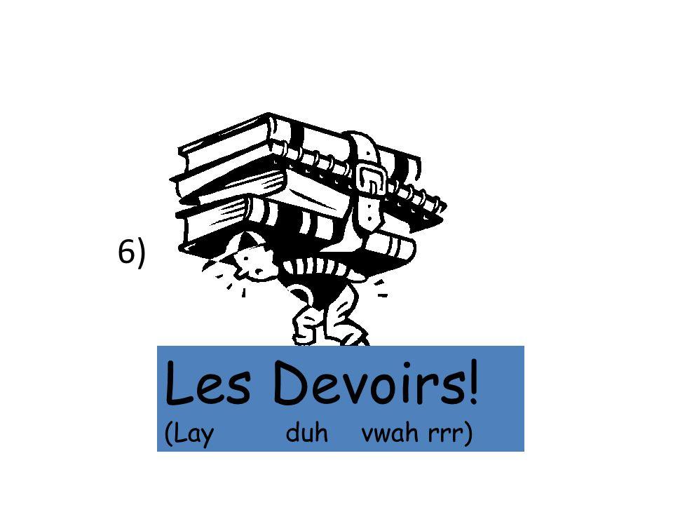 6) Les Devoirs! (Lay duh vwah rrr)