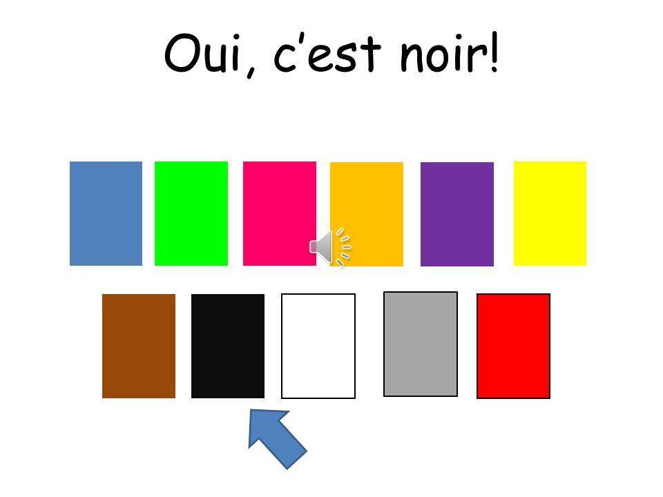 Oui, c'est noir! Choississez means choose