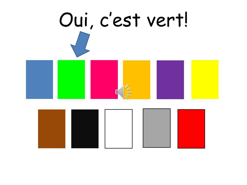 Oui, c'est vert! Choississez means choose