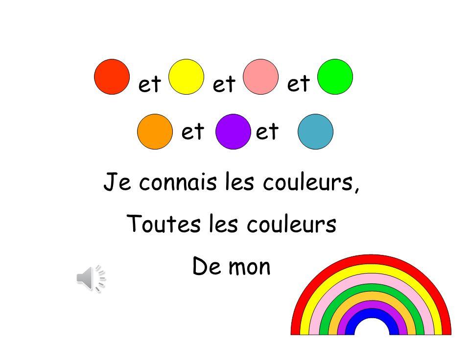 Je connais les couleurs,