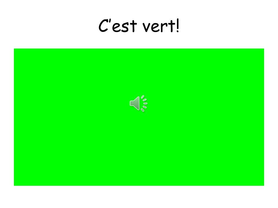 C'est vert!