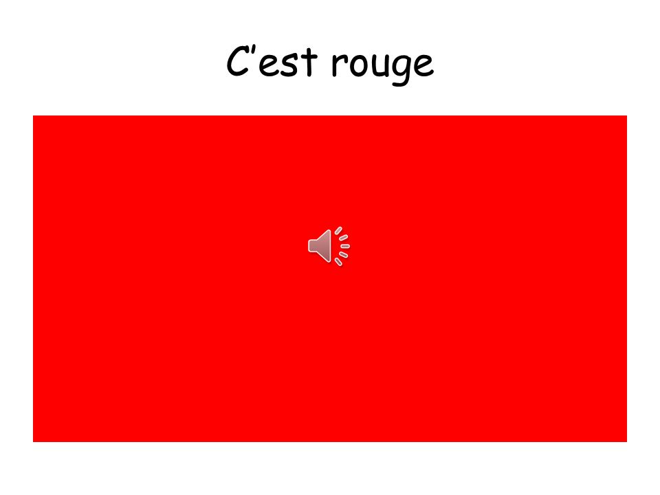 C'est rouge