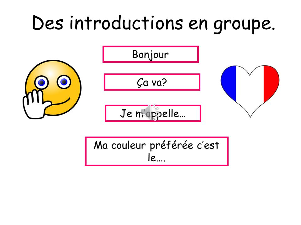 Des introductions en groupe.