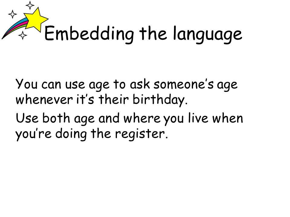 Embedding the language