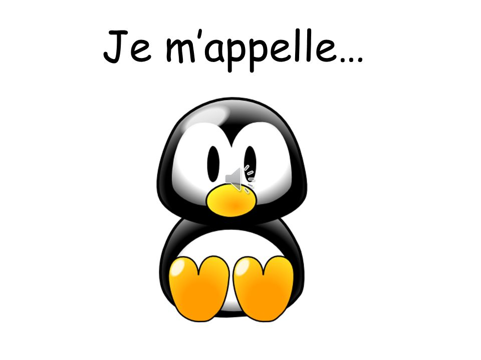 Je m'appelle… Pupils can choose a name for the penguin.