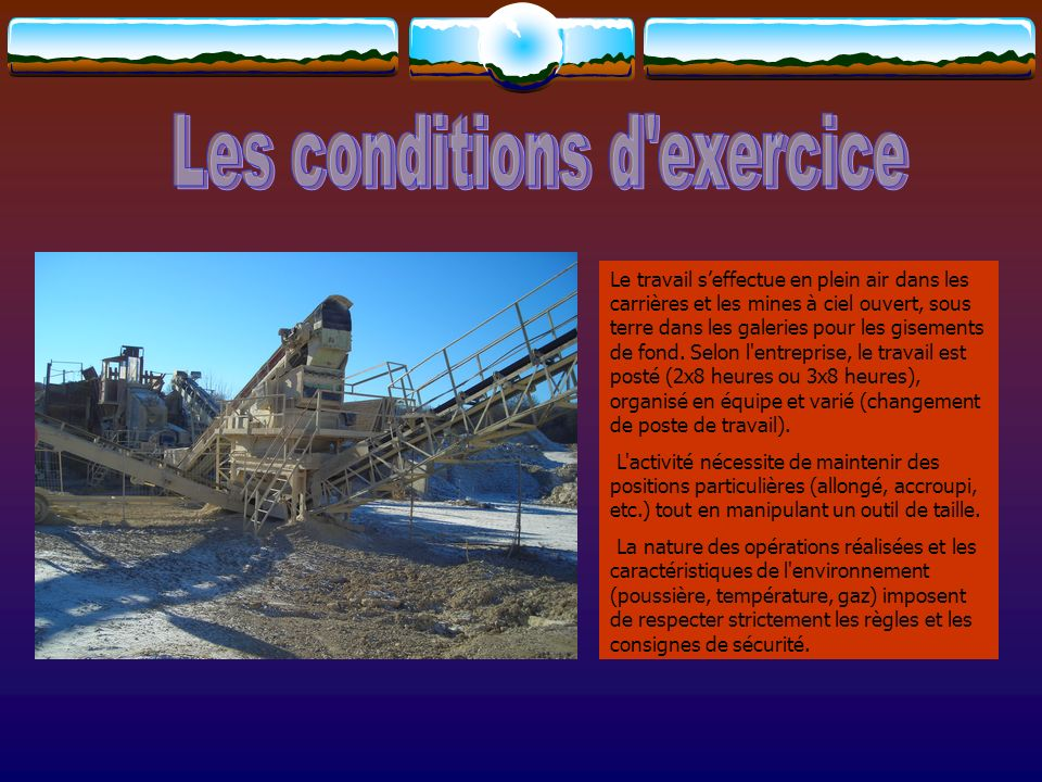 Les conditions d exercice