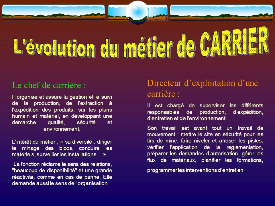 L évolution du métier de CARRIER