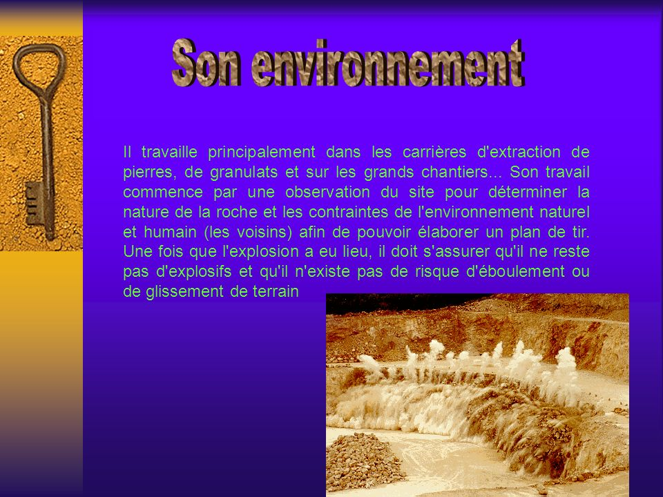 Son environnement
