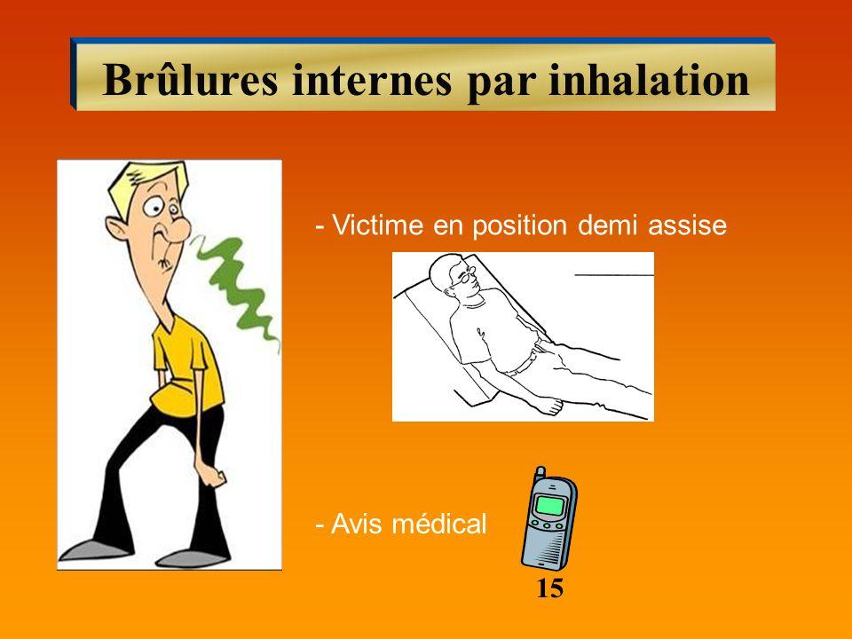 Brûlures internes par inhalation