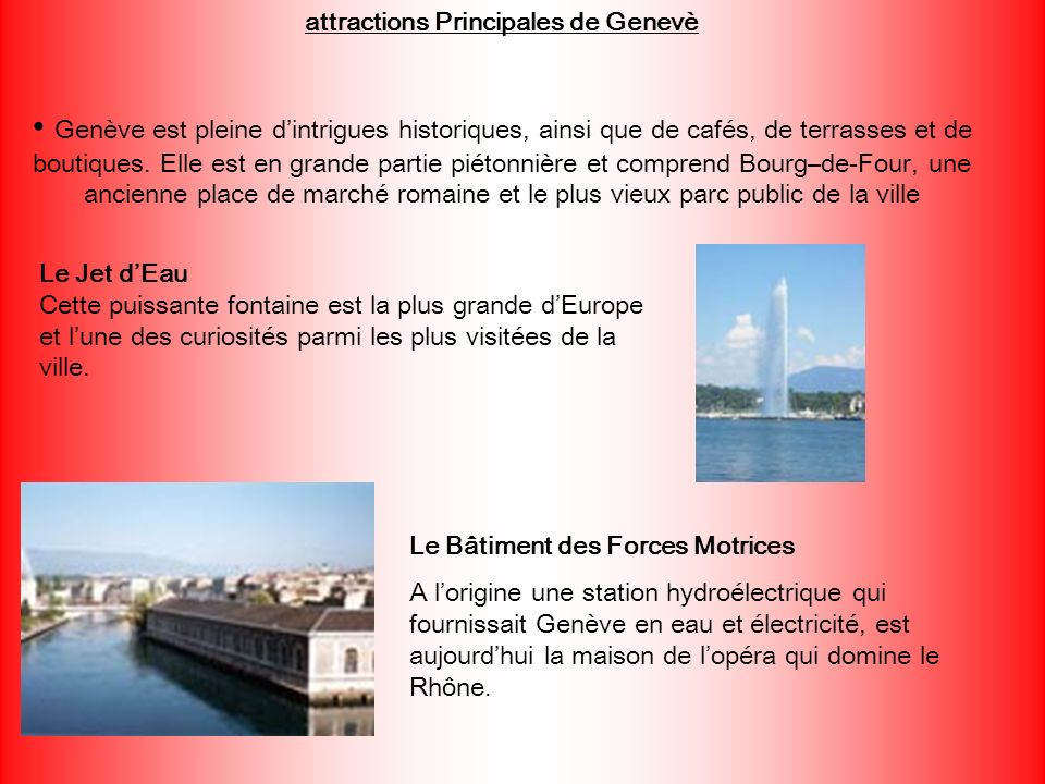 attractions Principales de Genevè
