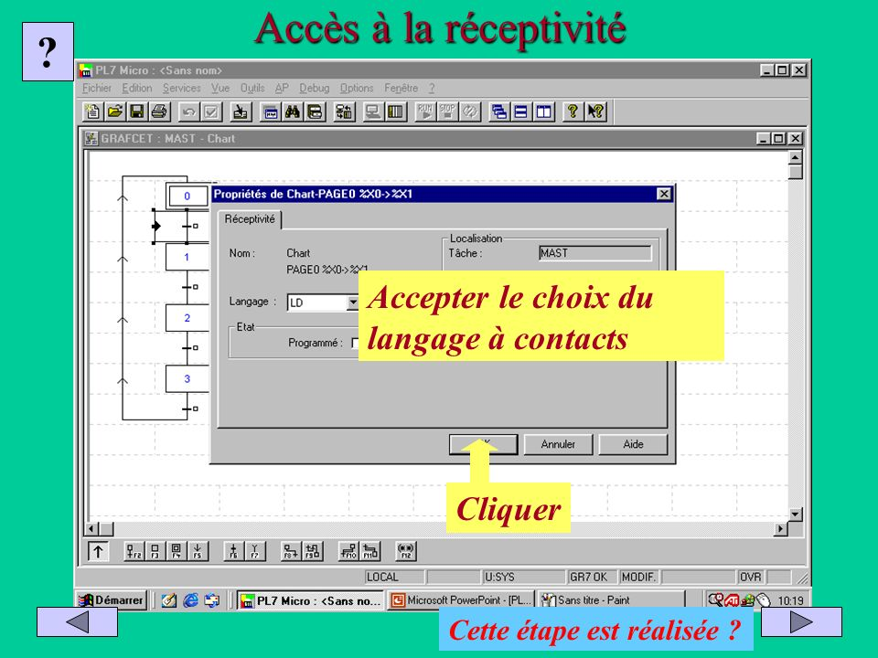 Accès à la réceptivité Accepter le choix du langage à contacts