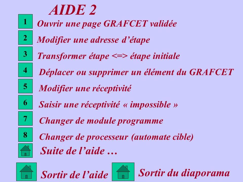 AIDE 2 Suite de l'aide … Sortir du diaporama Sortir de l'aide