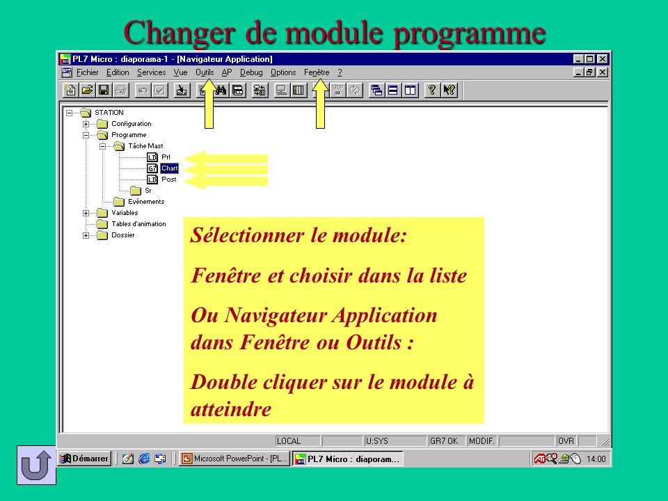 Changer de module programme