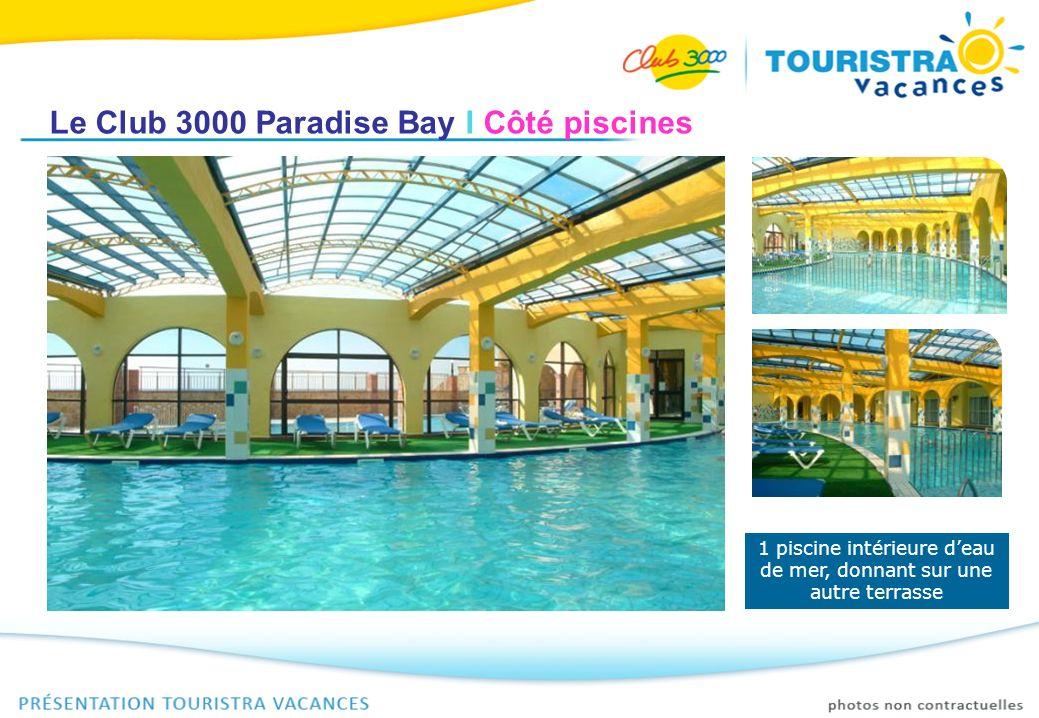 1 piscine intérieure d'eau de mer, donnant sur une autre terrasse
