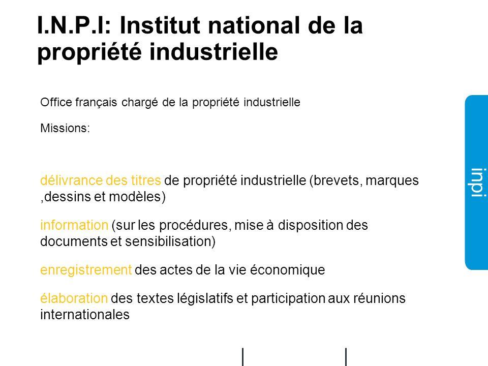 I.N.P.I: Institut national de la propriété industrielle