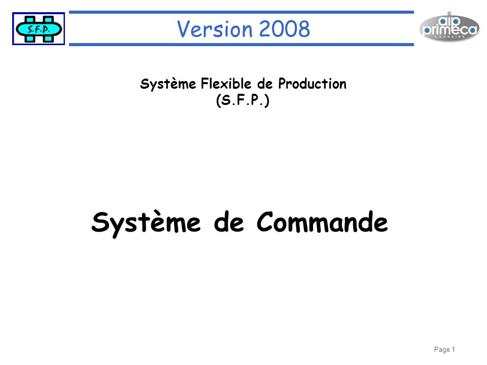 Système Flexible de Production