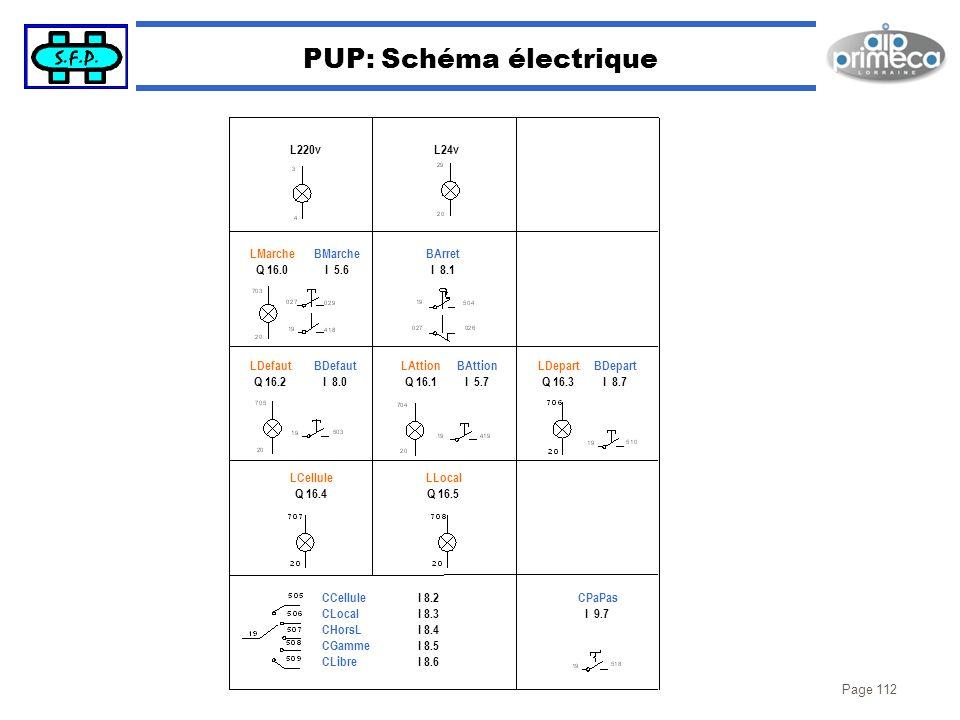 PUP: Schéma électrique