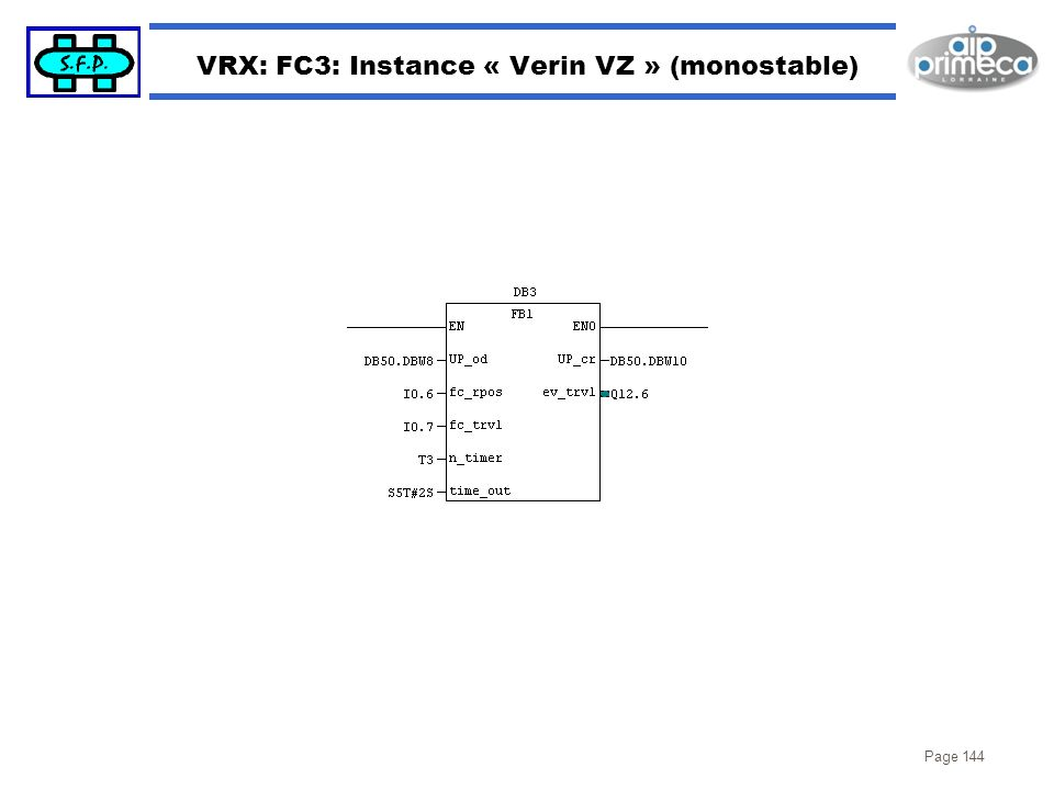 VRX: FC3: Instance « Verin VZ » (monostable)