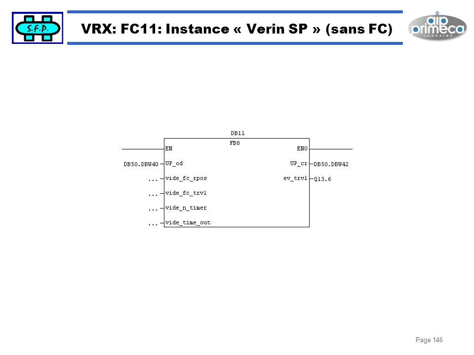 VRX: FC11: Instance « Verin SP » (sans FC)