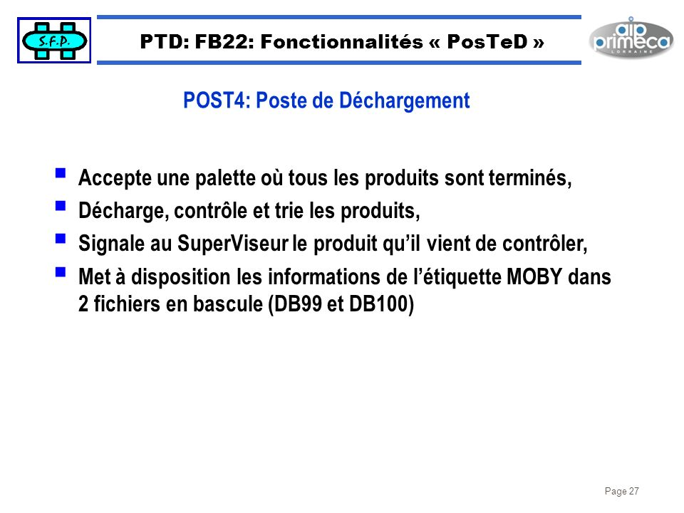 PTD: FB22: Fonctionnalités « PosTeD »