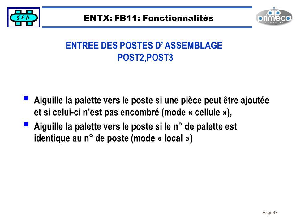 ENTX: FB11: Fonctionnalités
