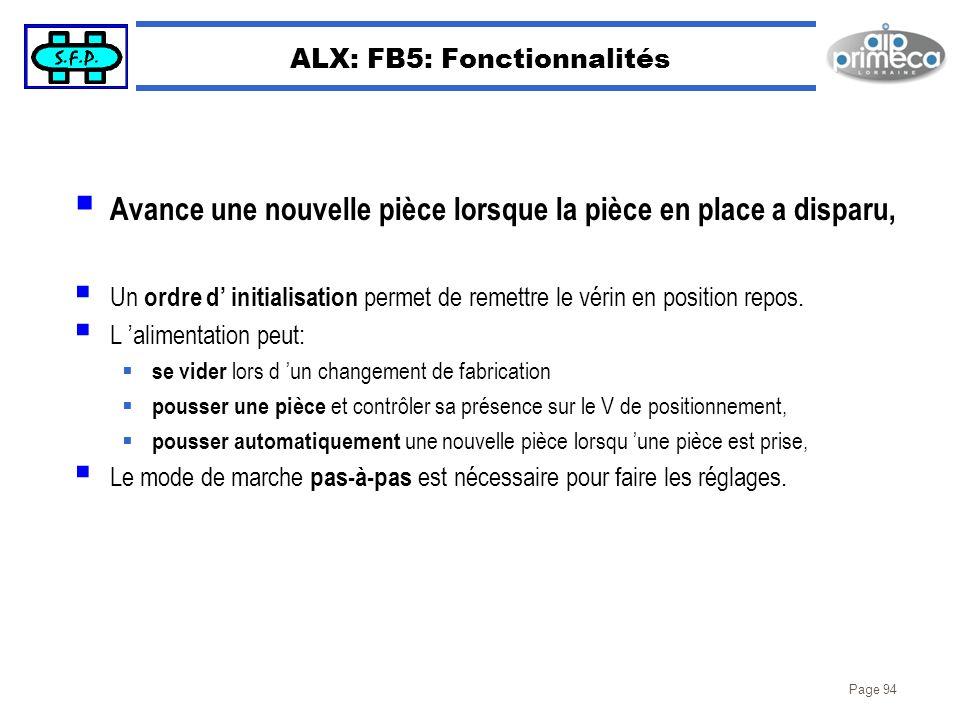 ALX: FB5: Fonctionnalités