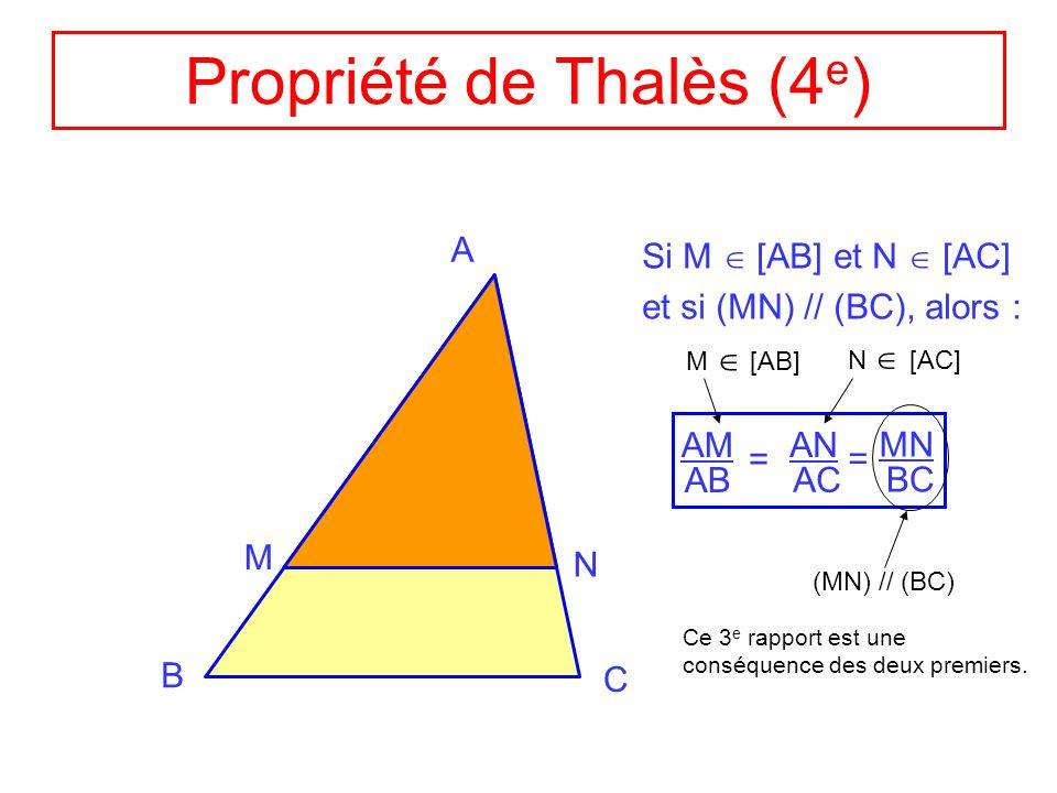 Propriété de Thalès (4e)