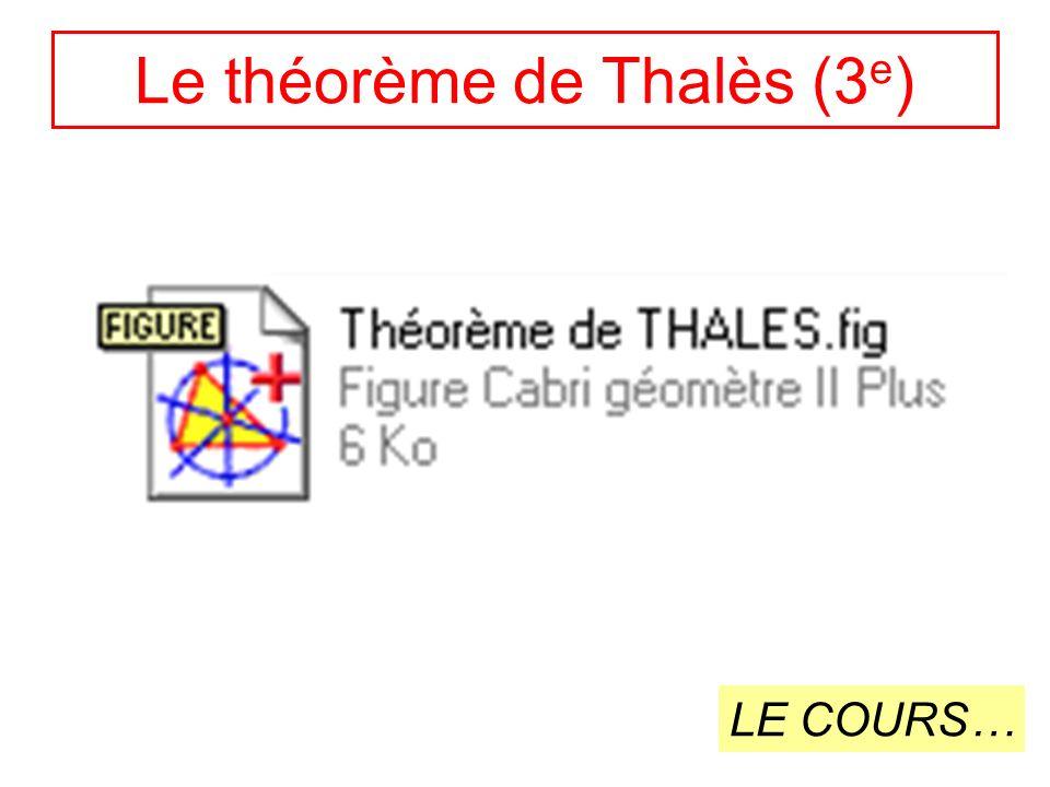 Le théorème de Thalès (3e)
