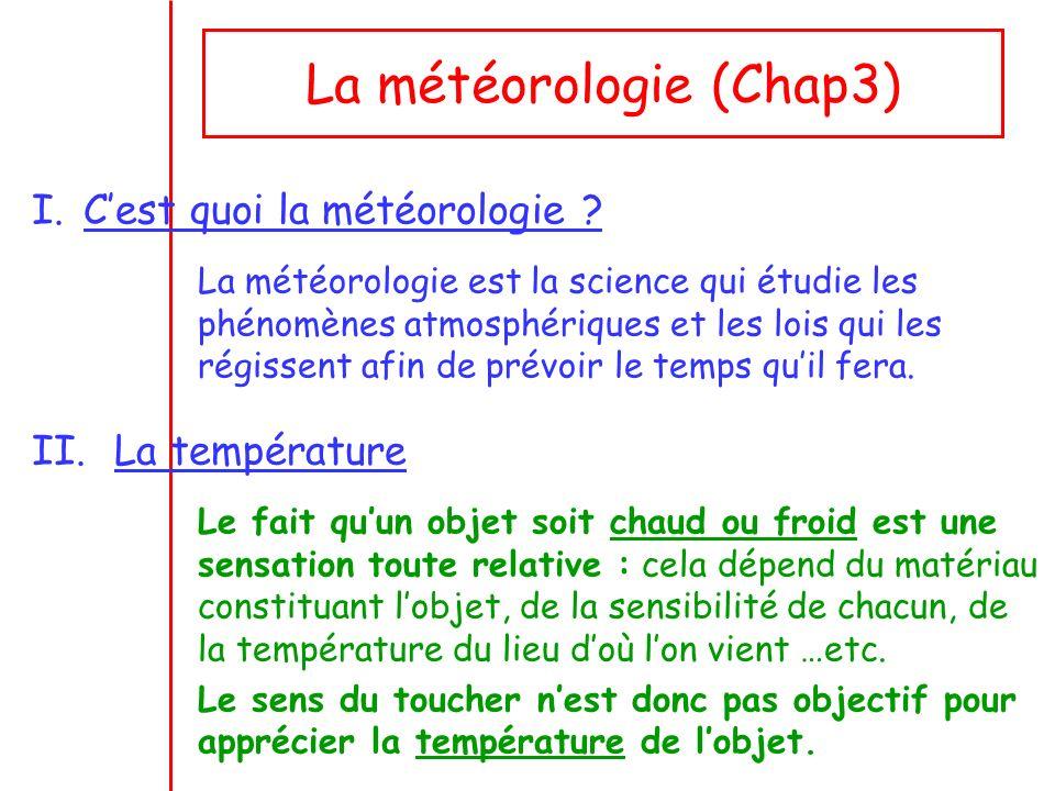 La météorologie (Chap3)