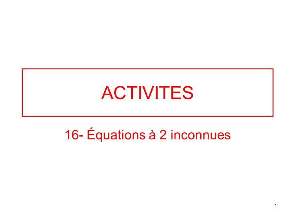 16- Équations à 2 inconnues