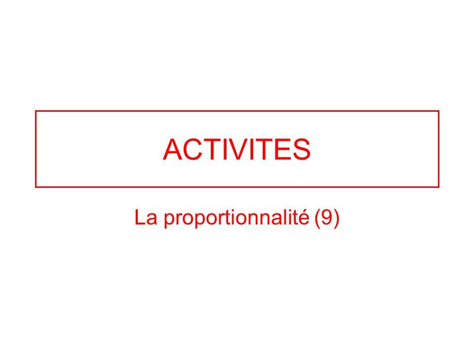 La proportionnalité (9)