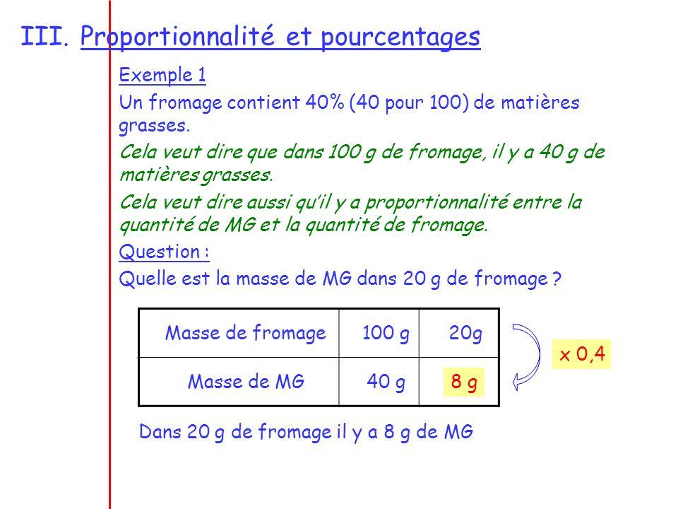Proportionnalité et pourcentages