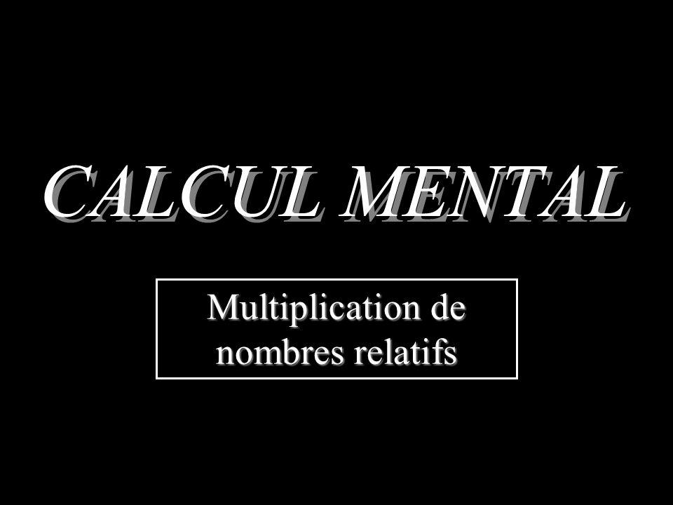 Multiplication de nombres relatifs