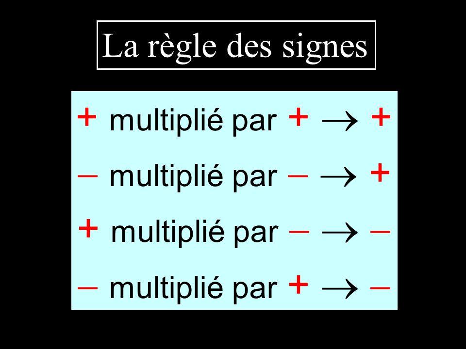+ multiplié par +  +  multiplié par   + + multiplié par   