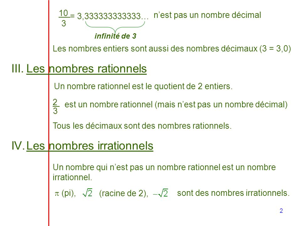 Les nombres rationnels