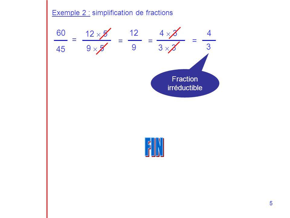 Fraction irréductible