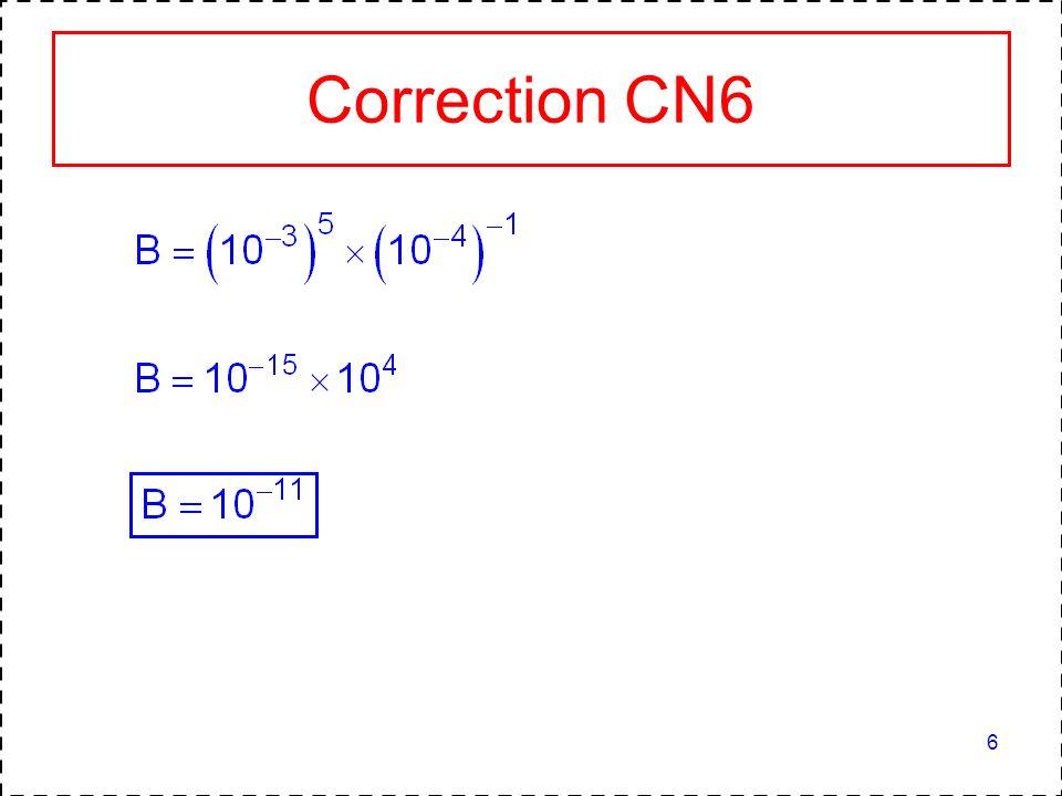 Correction CN6