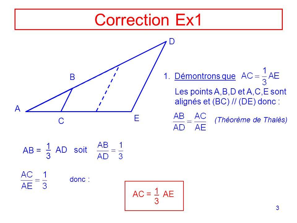 Correction Ex1 D B Démontrons que