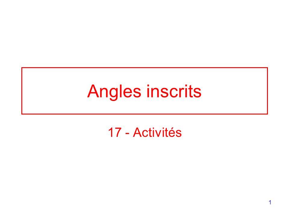 Angles inscrits 17 - Activités