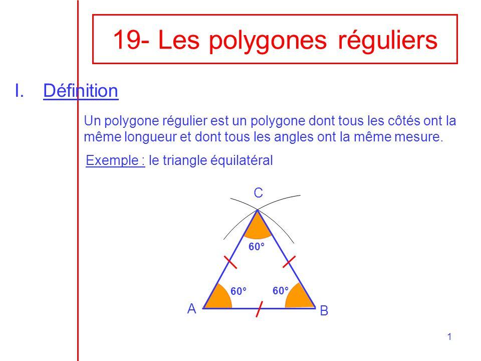 19- Les polygones réguliers