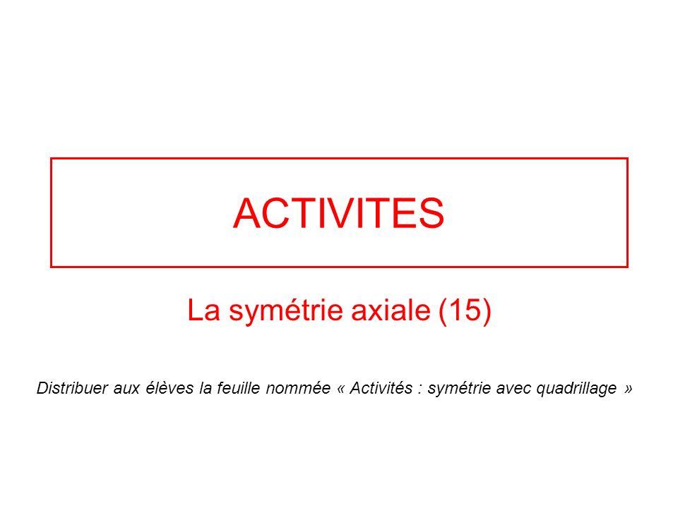 ACTIVITES La symétrie axiale (15)