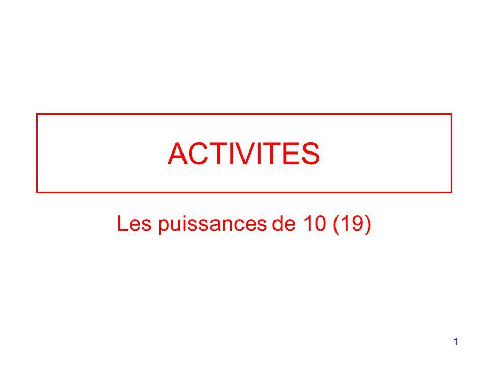 ACTIVITES Les puissances de 10 (19)