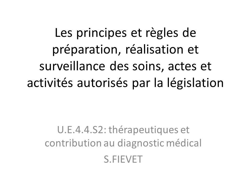 U.E.4.4.S2: thérapeutiques et contribution au diagnostic médical