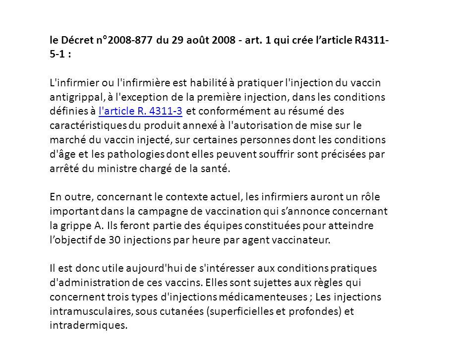 le Décret n°2008-877 du 29 août 2008 - art