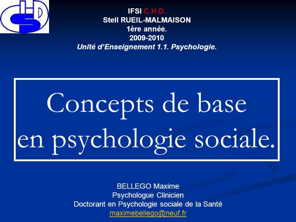 Stell RUEIL-MALMAISON Unité d'Enseignement 1.1. Psychologie.