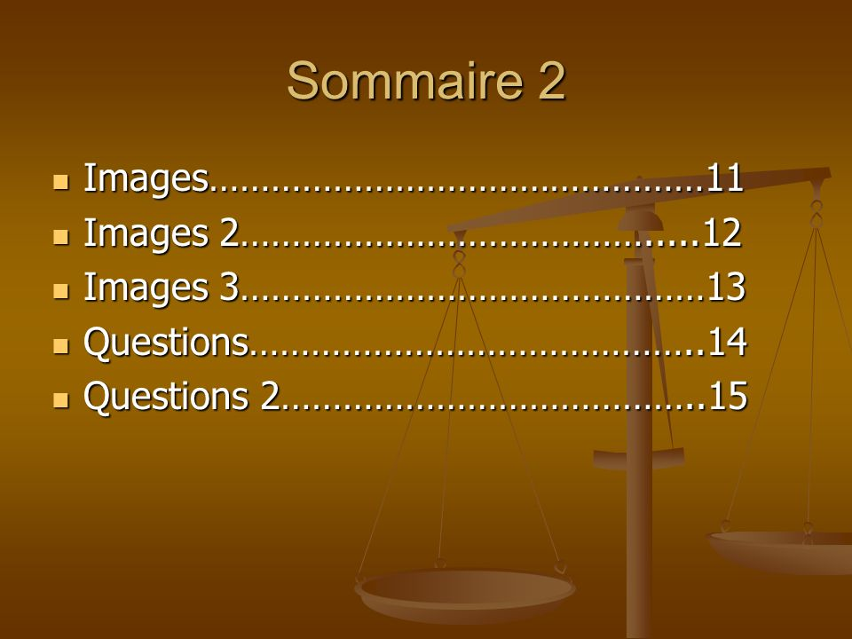 Sommaire 2 Images…………………………………………11 Images 2………………………………….....12