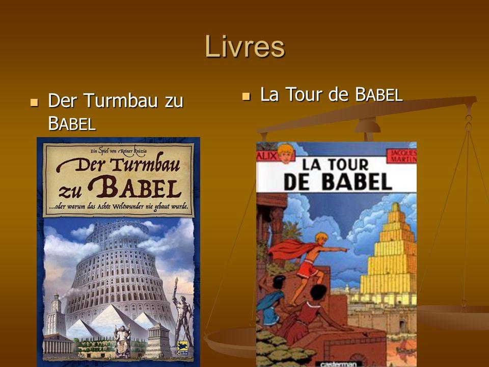 Livres La Tour de BABEL Der Turmbau zu BABEL